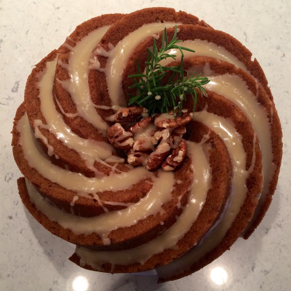 Apple Bourbon Pound Cake