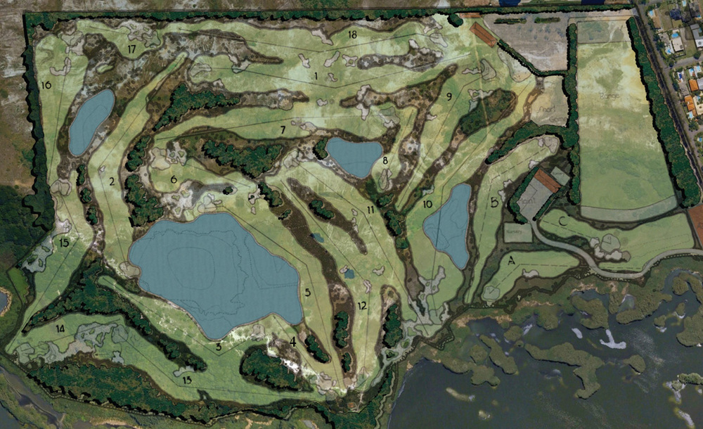 Gil Hanse design for the course, image via planetgolfusa.com