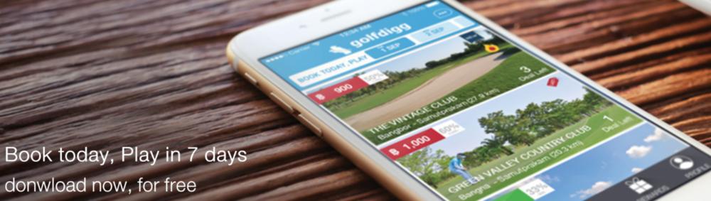 Golfdigg app (golfdigg.com).