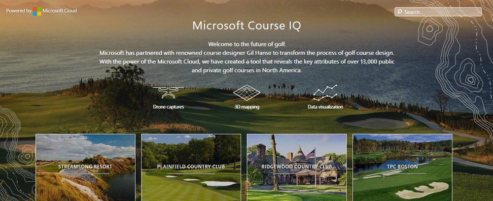 A screen capture of the Course IQ homepage. Click the image to go to the site. Image credit: courseiq.golf