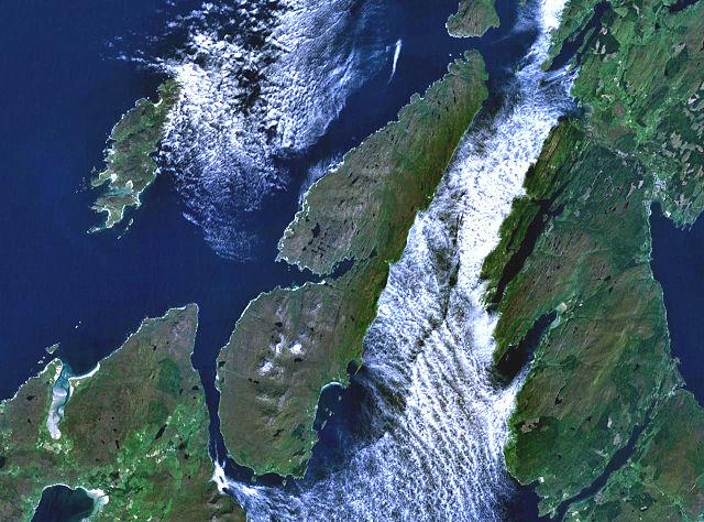 Satellite image of Jura. Credit: Public Domain, wikimedia.org