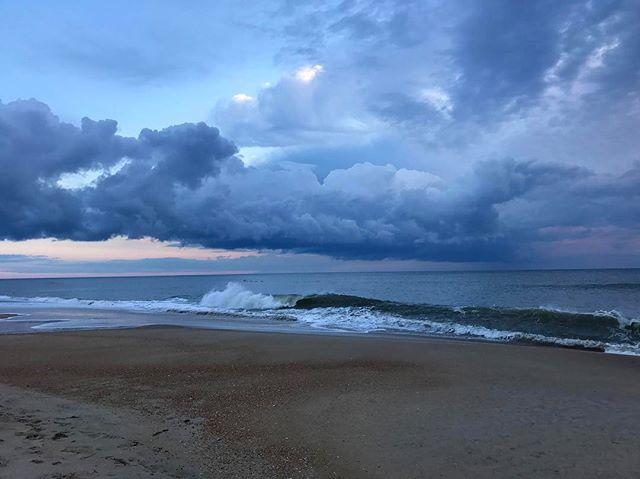 Sunrise from yesterday #obx #nagshead #beach #home #sunrise #ocean #oceanismypotion