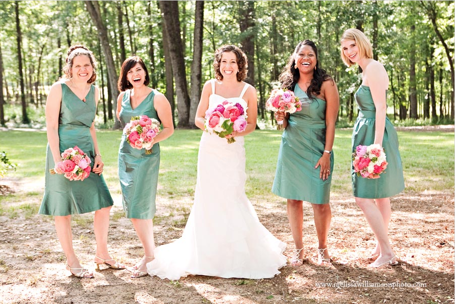 From left to right: Mari Catherine's sister-in-law, me, Mari Catherine, Alechia and Olivia on Mari Catherine's wedding day just outside of Athens, Georgia.  Photo by Melissa Williamson Tuck (http://melissatuckblog.com/)