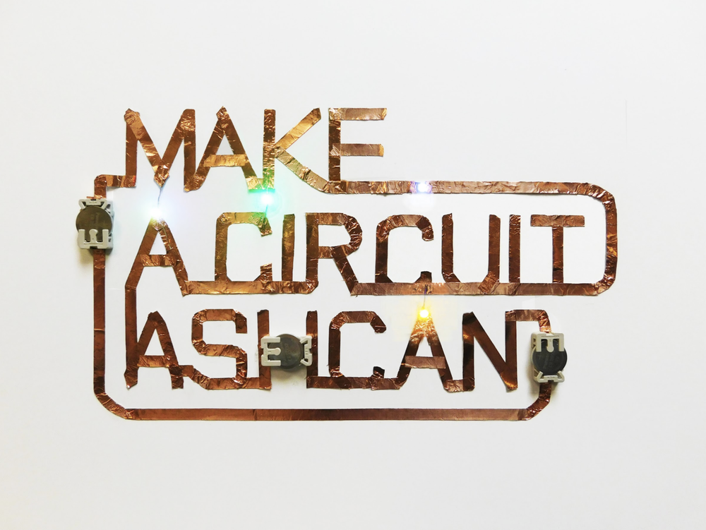 Advertising / Lettering Design/ Identity Design : copper Tape, LEDs, batteries