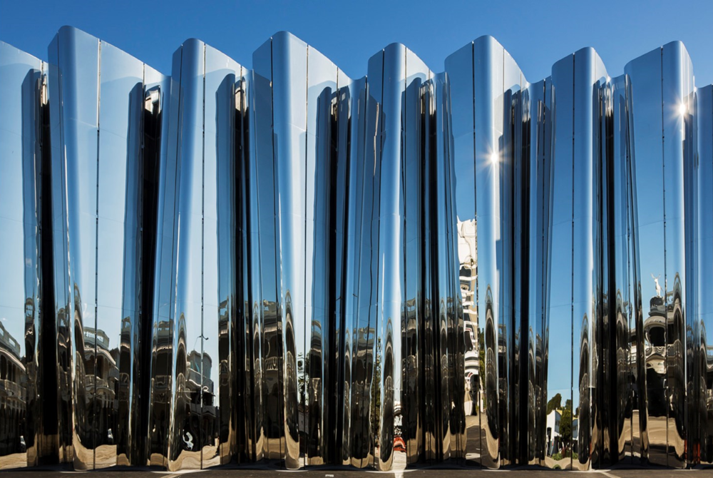 The Len Lye Centre facade. Photo by Patrick Reynolds. Source: Black Magazine Online