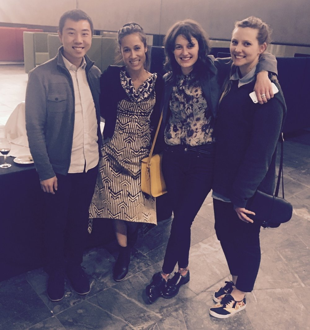Bobby, Jo, Fritha and Sianne - Part of the core team of organisers for Architecture Week 2016