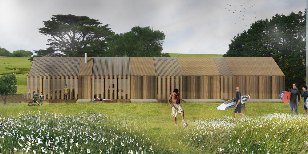 A proposed new farm house located at Bream Tail, Mangawhai Heads.