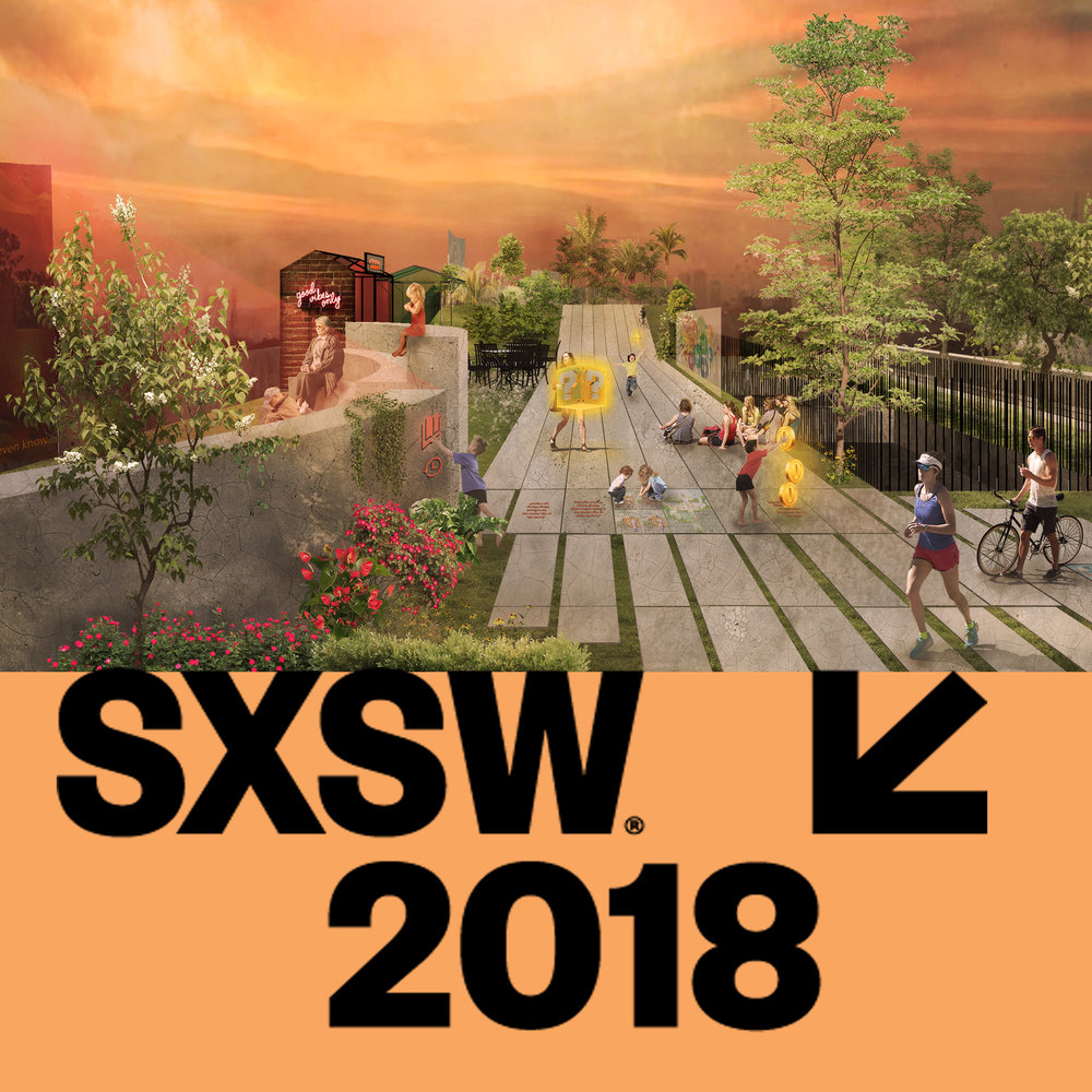 We are excited to be heading to next year's South by South West (SXSW) in Austin, Texas to present our Urban Library Learning Park project, which looks at a potential new public building typology and the re-use of inner city car parking buildings, once they are no longer needed with the onset of driverless cars.