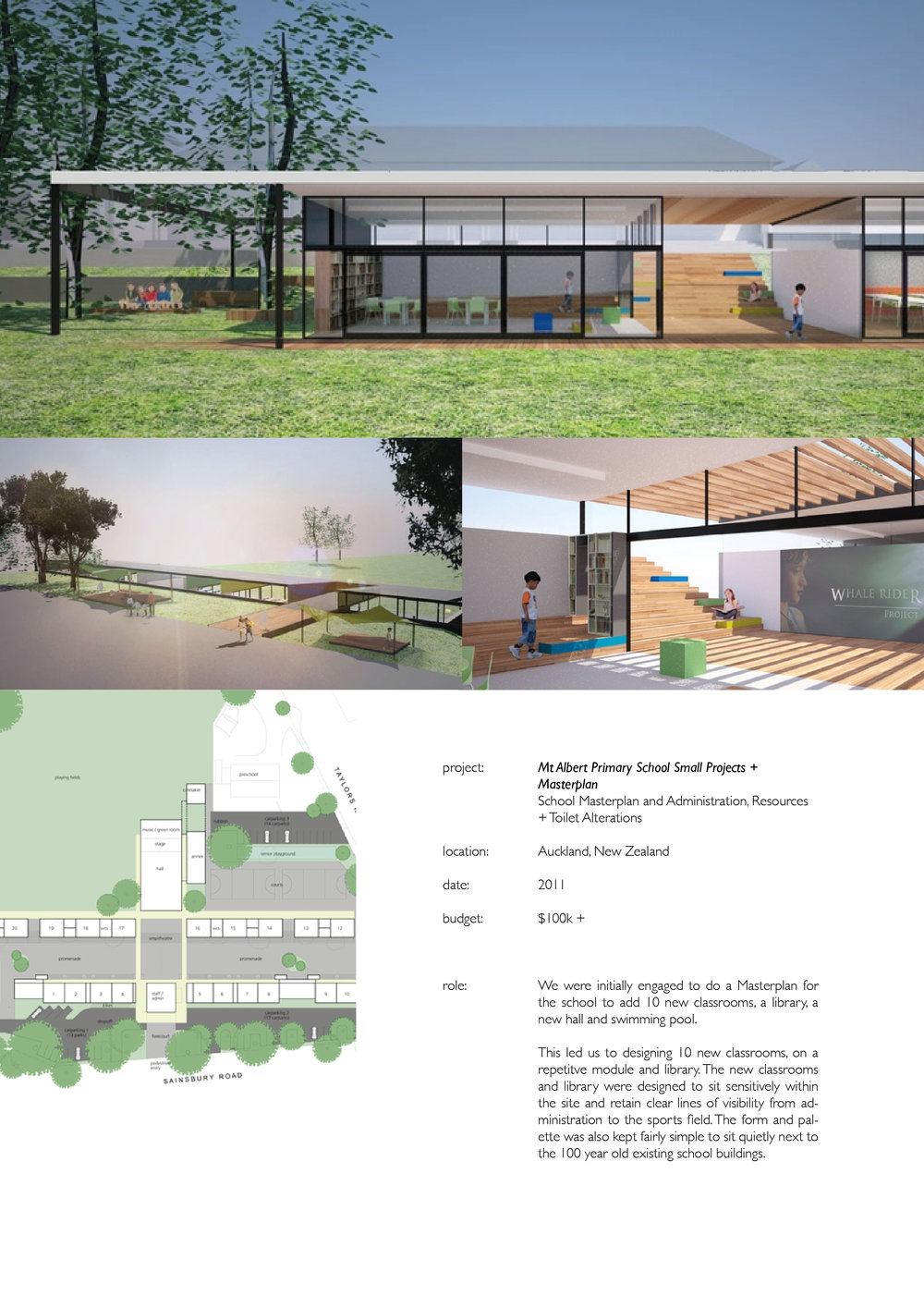Atelier Aitken Architecture - Mt Albert Primary School 2010