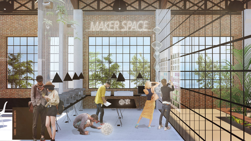 Atelier Aitken modern workplace design - offices - Makerspace