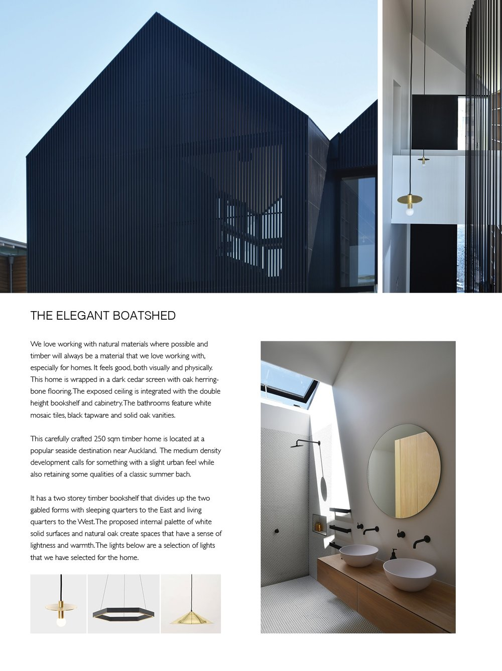 Atelier Aitken Elegant boatshed home