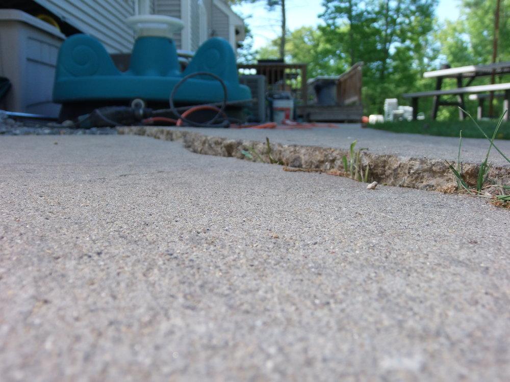 Uneven patios or sidewalks