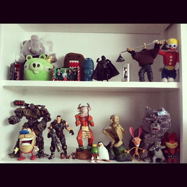 """My toy shelf. You have one? Share it! #instameme""  by   Mark Krynsky   is licensed under  CC BY 2.0"