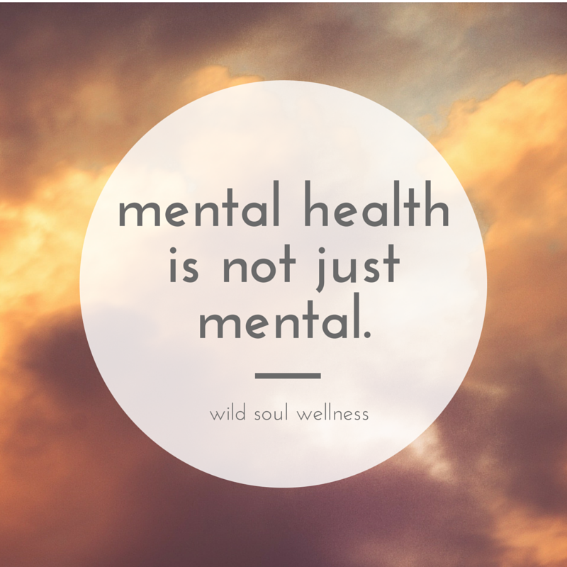 "Click to tweet »  ""Mental health is not just mental."""