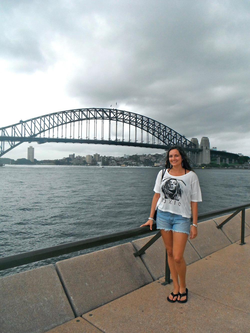 My first day in Australia (..and yes, I am wearing a Britney Spears t-shirt)
