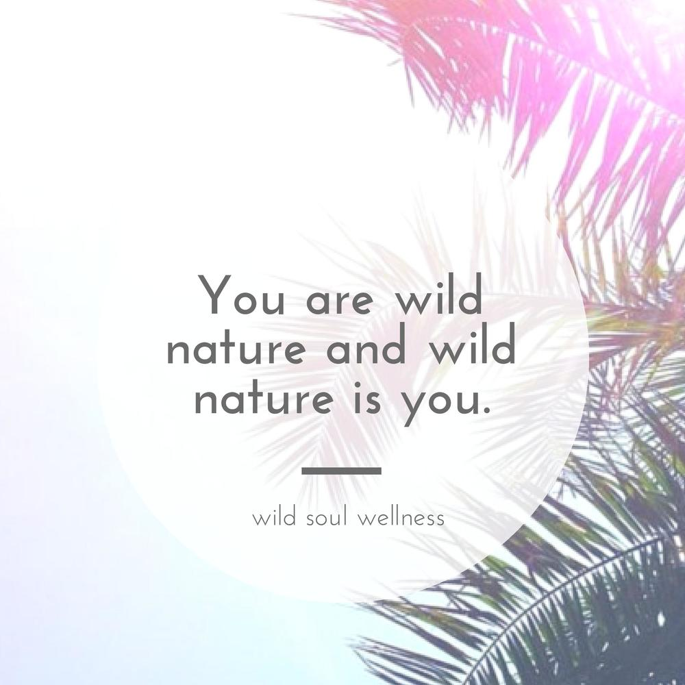 » CLICK TO TWEET « You are wild nature and wild nature is you.