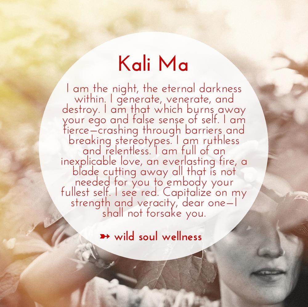 """» CLICK TO TWEET « """"Kali Ma: I am full of an inexplicable love, an everlasting fire, a blade cutting away all that is not needed..."""""""