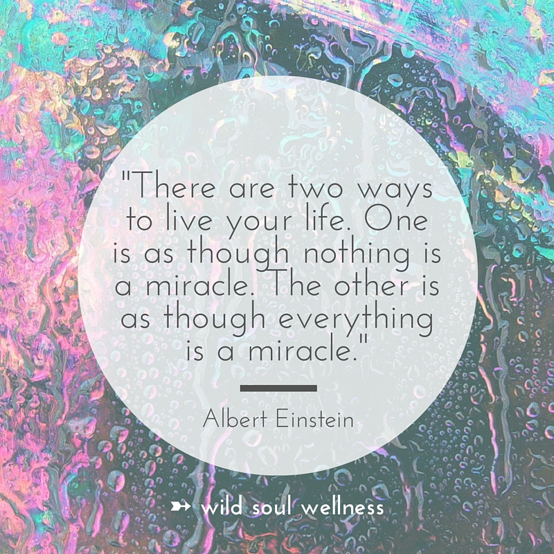 """» CLICK TO TWEET « """"There are 2 ways to live your life. One is as though nothing is a miracle. The other is as though everything is."""""""