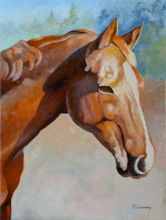 Wickers the Warmblood getting towards the final painting.