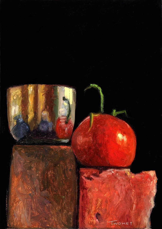 Jefferson Cup, Tomato and Sedona Rocks