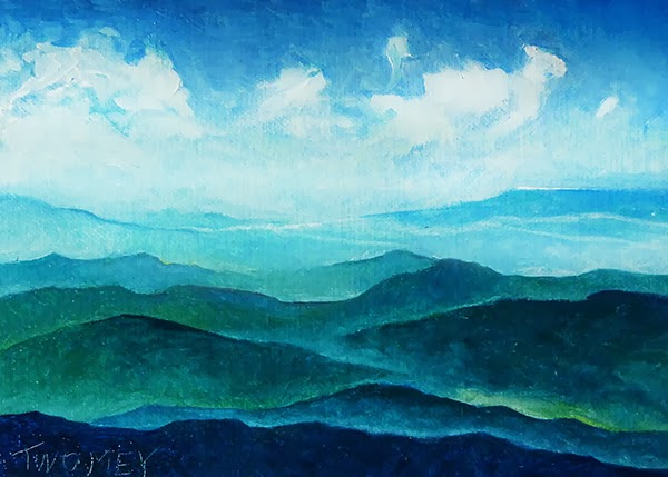 Oil Painting of the Blue Ridge Mountains