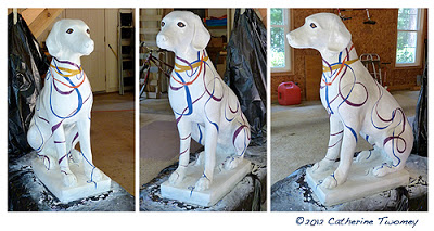He's finished! Lookin' happy and good, your typical hound dog.