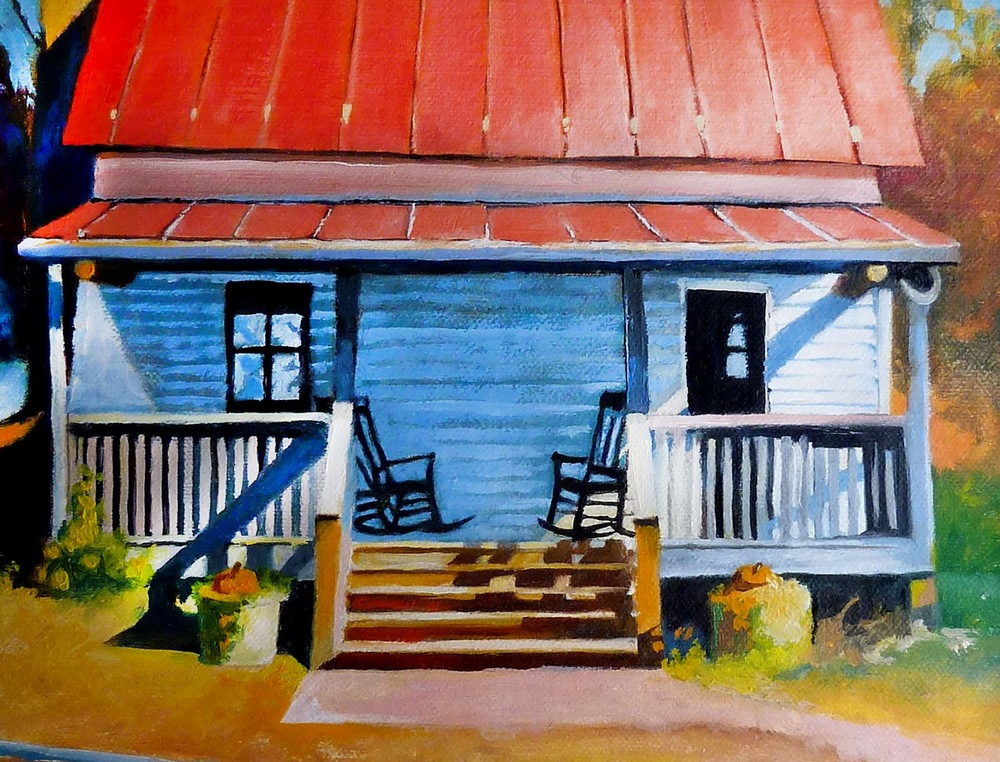 Southern Homestead Original Oil by C. Twomey