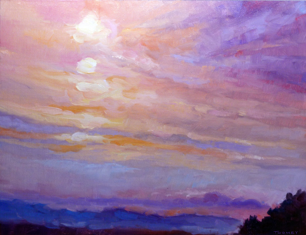 """Blue Ridge Mountains Sunset 1.2"" by C. Twomey"