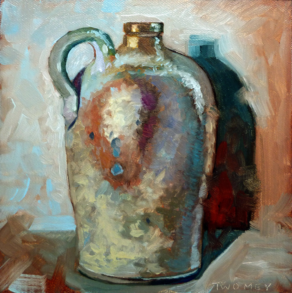 """Jug Portrait 3.0, 6 X 6"" oil on archival linen"