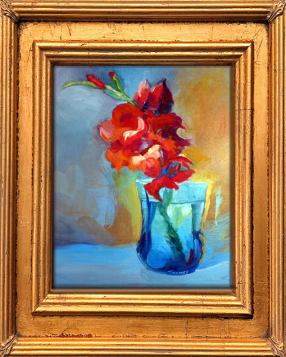 """Liquid Gladiolus II"" 9X12"" oil on linen board"