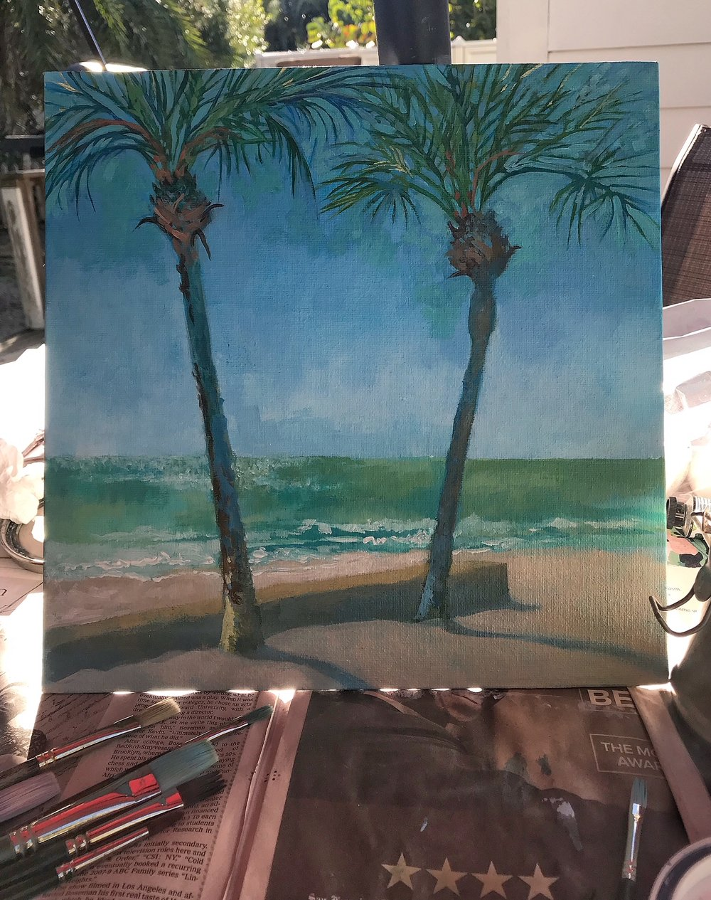 12X12', painting at Coquina Beach Park