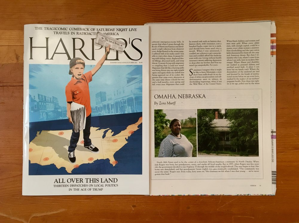 I have a couple of images from my redlining project in Harper's Magazine October issue!