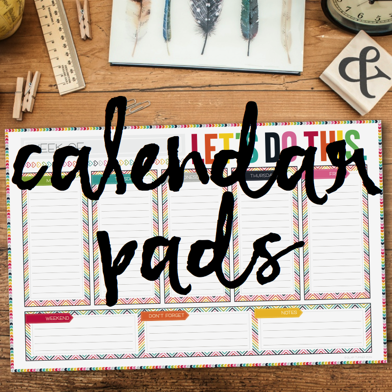WEEKLY & MONTHLY CALENDAR DESKPADS