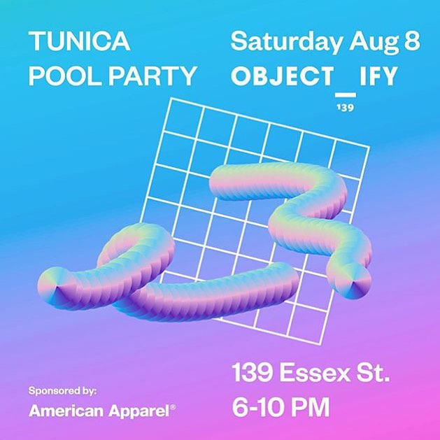 Don't forget to check our events calendar for current events / exhibits going on in nyc, like this Tunica pool party over at @objectify_nyc 🏊