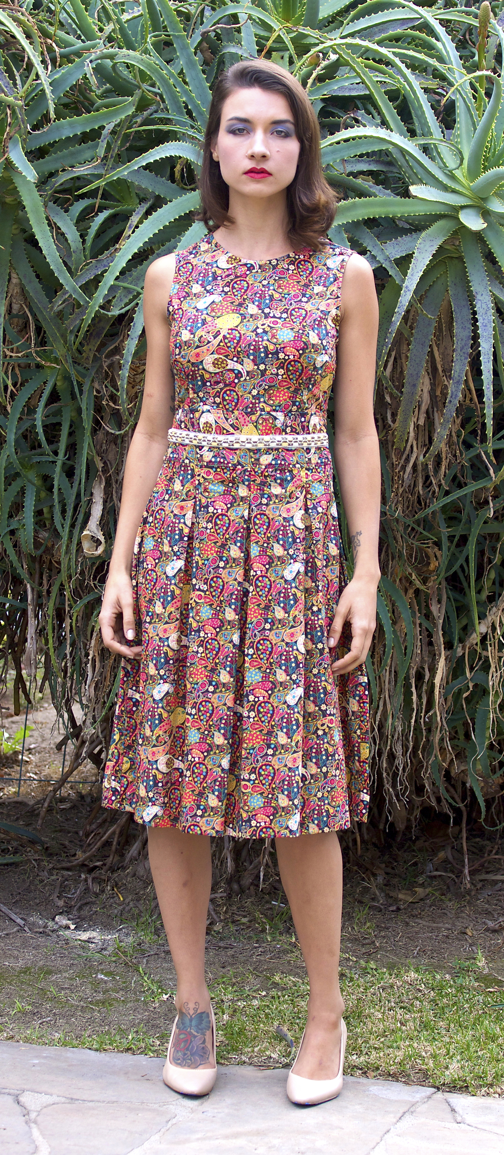 Midi Dress in Liberty Print Paisley