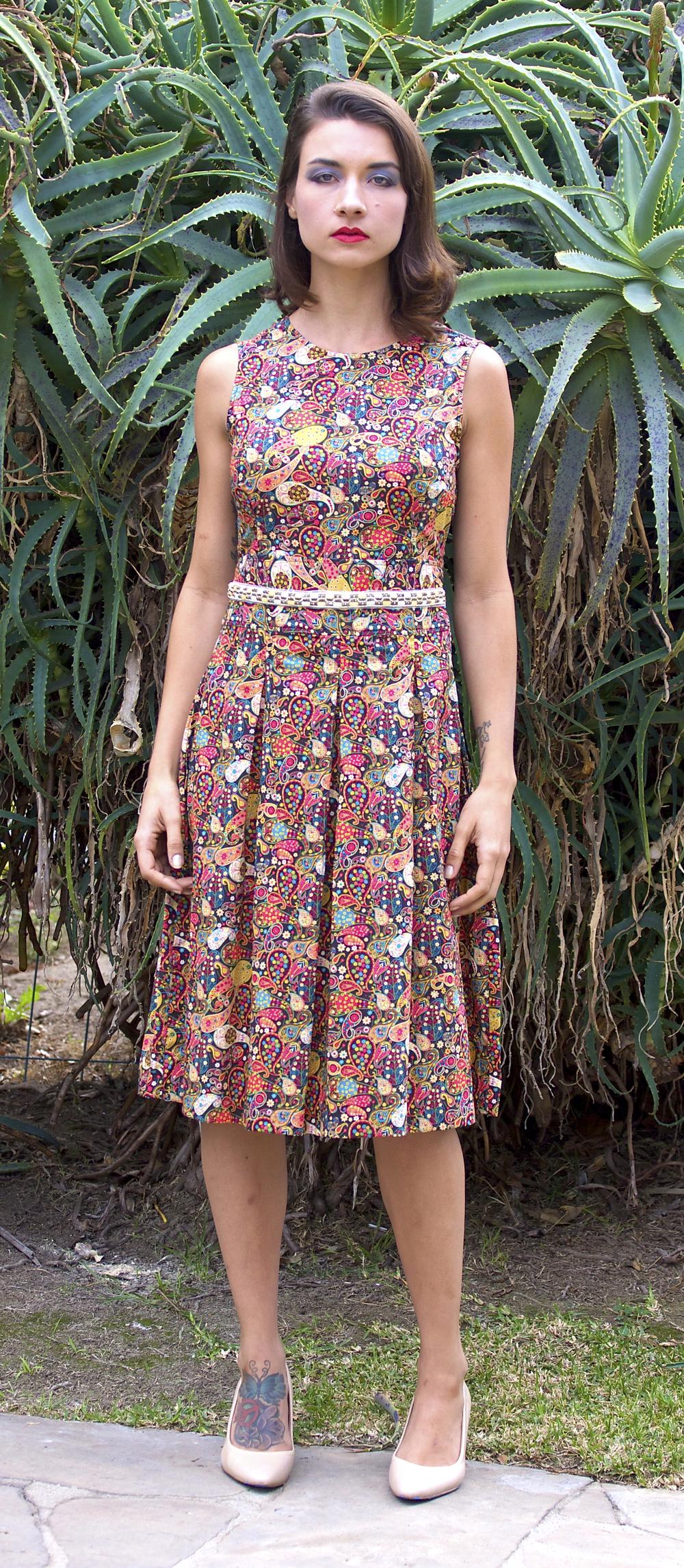 Libery Print Midi Dress