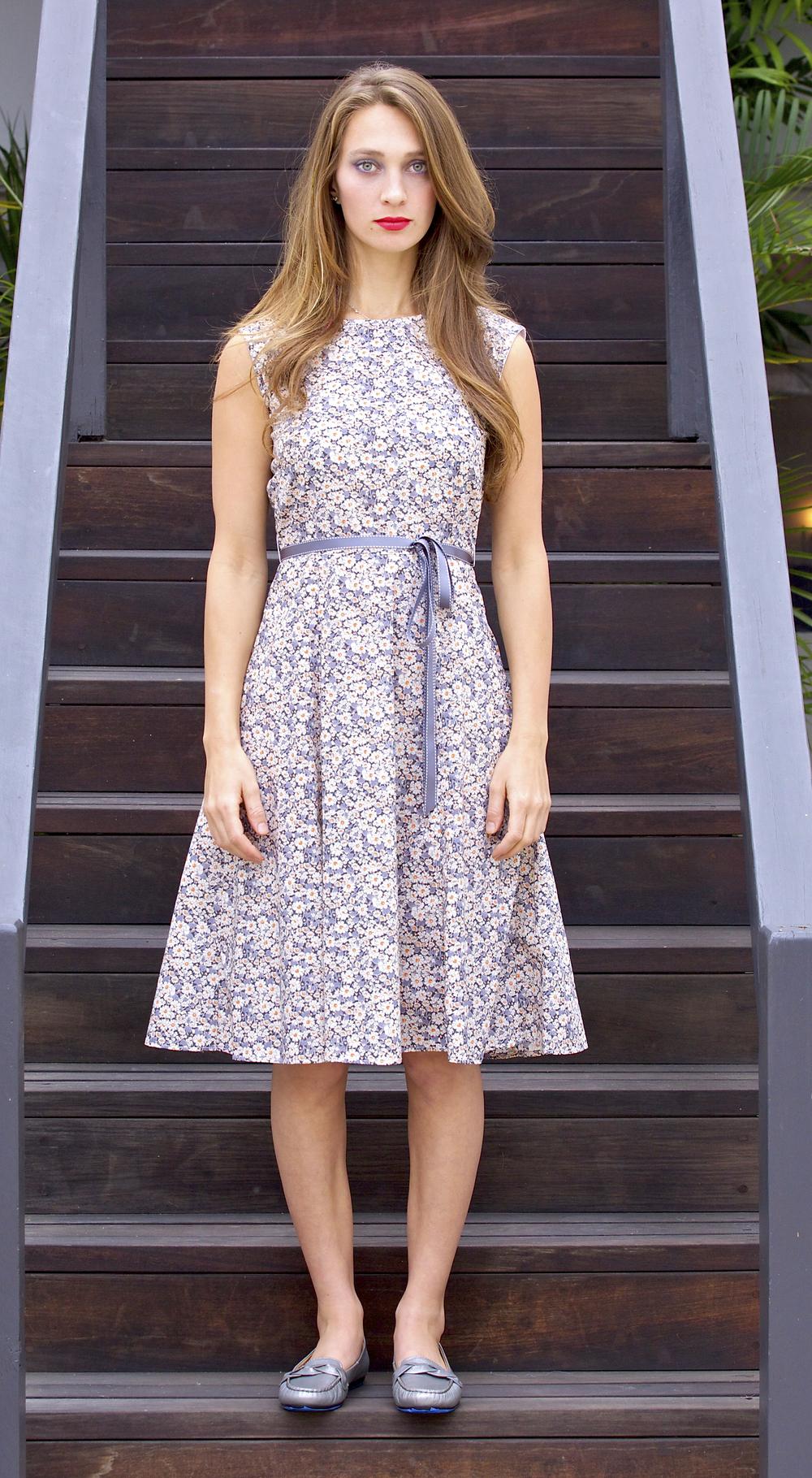 Liberty Daisy Midi Day Dress