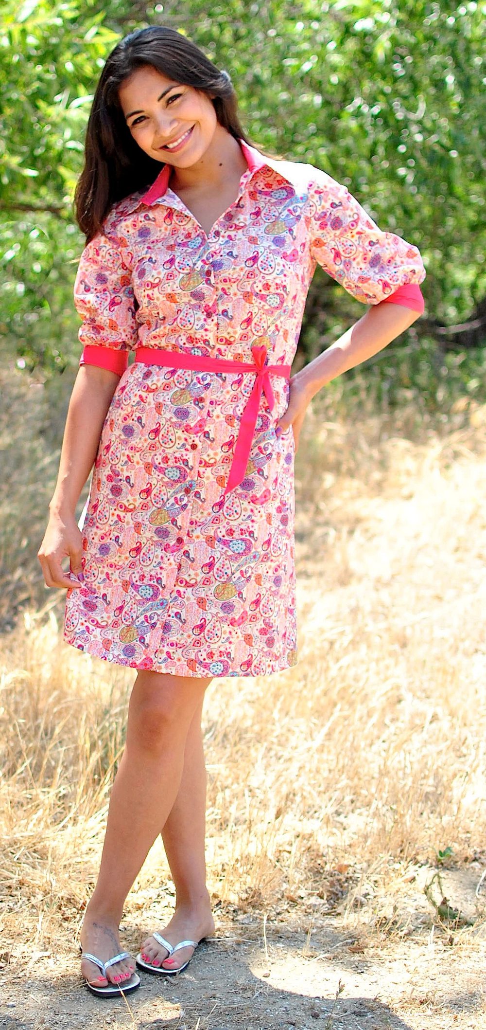 Liberty print shirtdress in boho paisley.