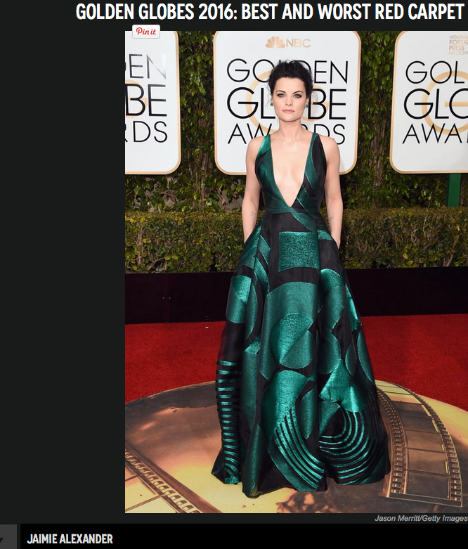 Jamie Alexander - beautifully Deco-Esc green & black.