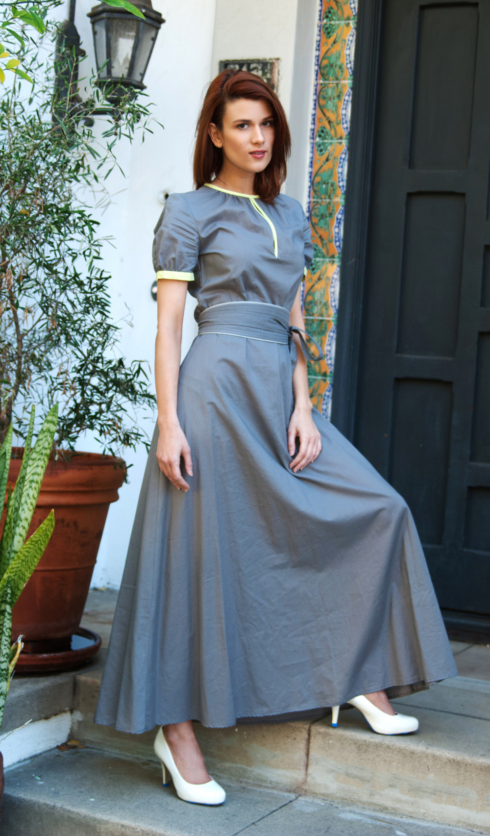 Boho Maxi Dress with Obi Belt