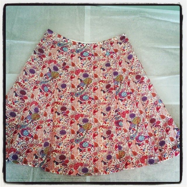 2. The Liberty-print swing skirt. Also comes in all 5 Liberty prints. Will go perfectly with tees,             tanks, light sweaters, white shirts, denim jackets. Made to order. #FashionForKeeps