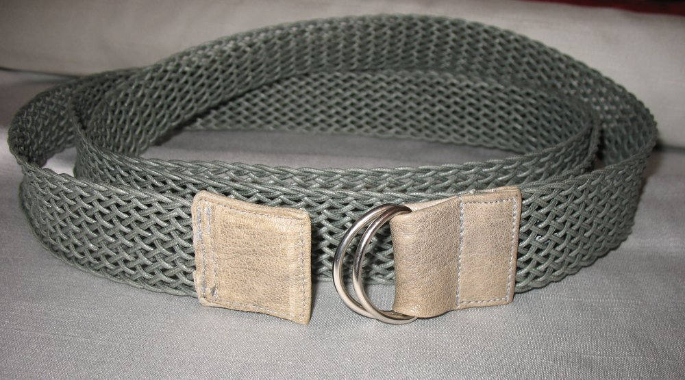 Double Wrap Belt in Grey