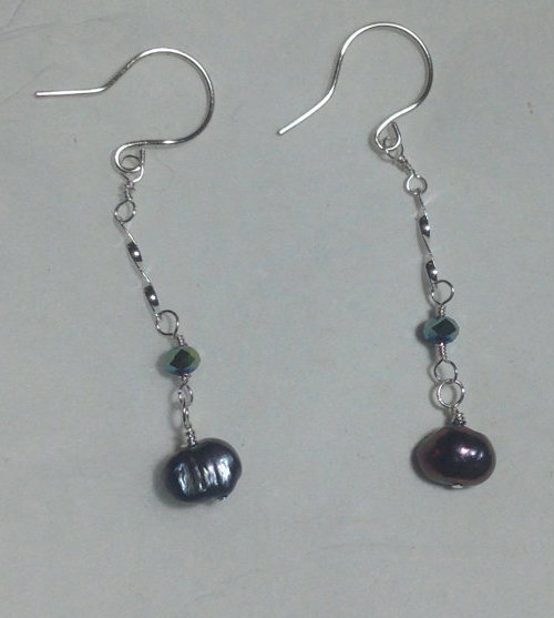 Pearl Dangly Earrings