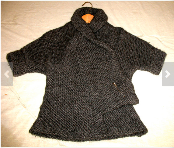 Chunky Wool Shawl-Wrap-Cardi-Sweater