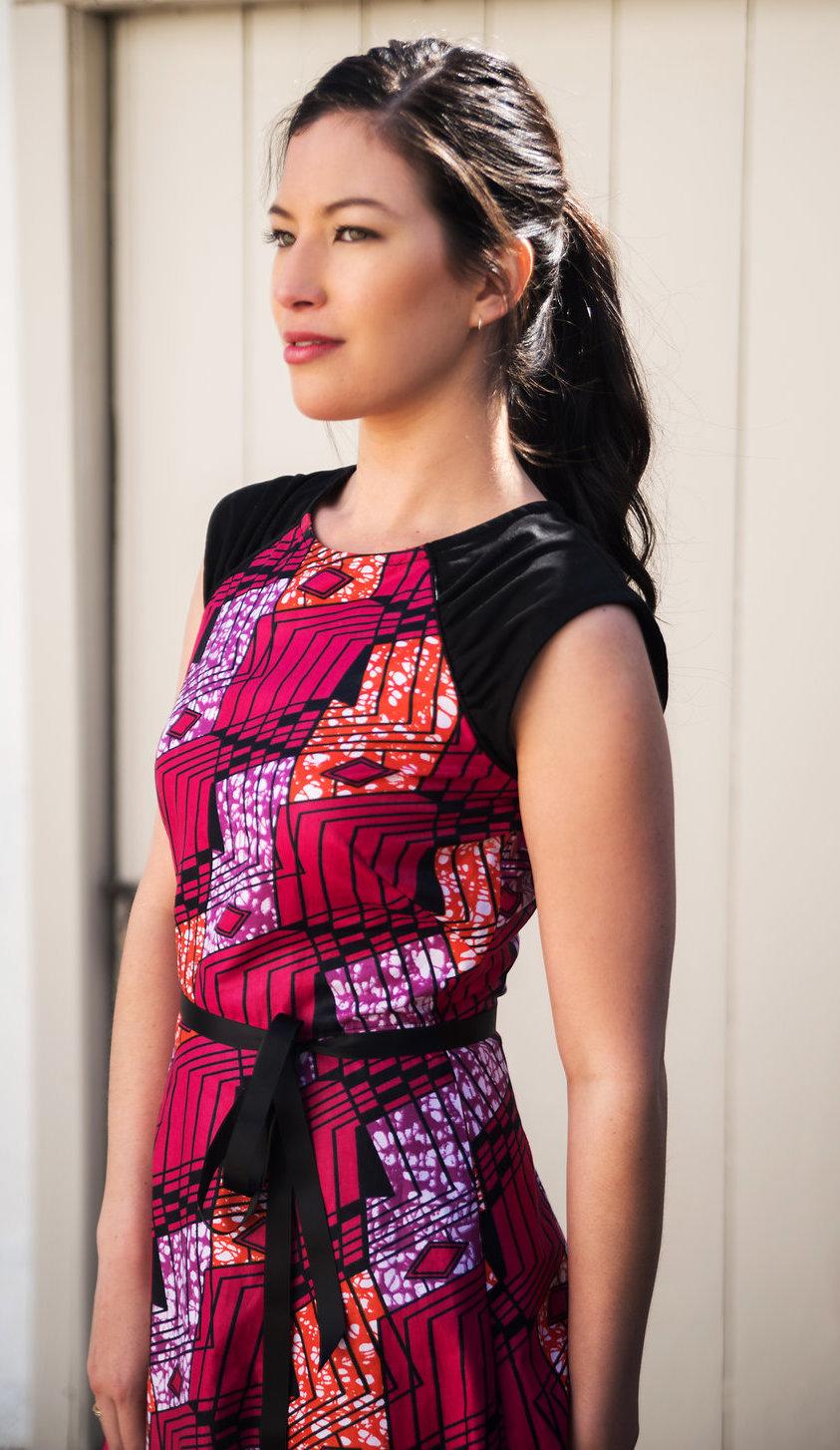 Midi Dress in African Print