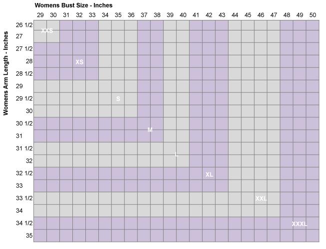 Atayne Women's Size Guide