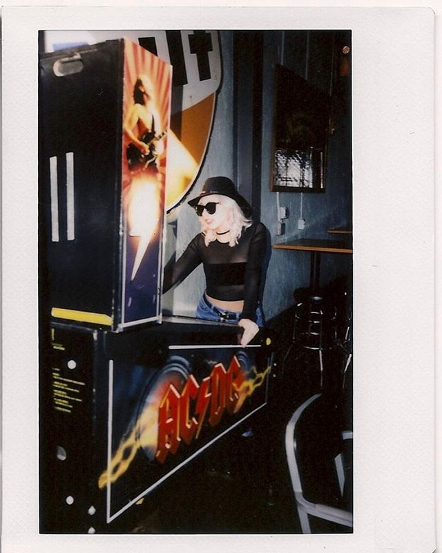 s a t u r d a y. N I G H T 💥 pinball wizard 💥featuring the 'Exposure Top' available at shopblackwednesday.com  #polaroid #instant #photography #pinball #garage #philly #blackwednesday #black #witch #witchy #witchywoman #passyunkave #shoplocal #shopsmall #blackonblack #instax #acdc #pinballwizard #saturday #night #saturdaynight
