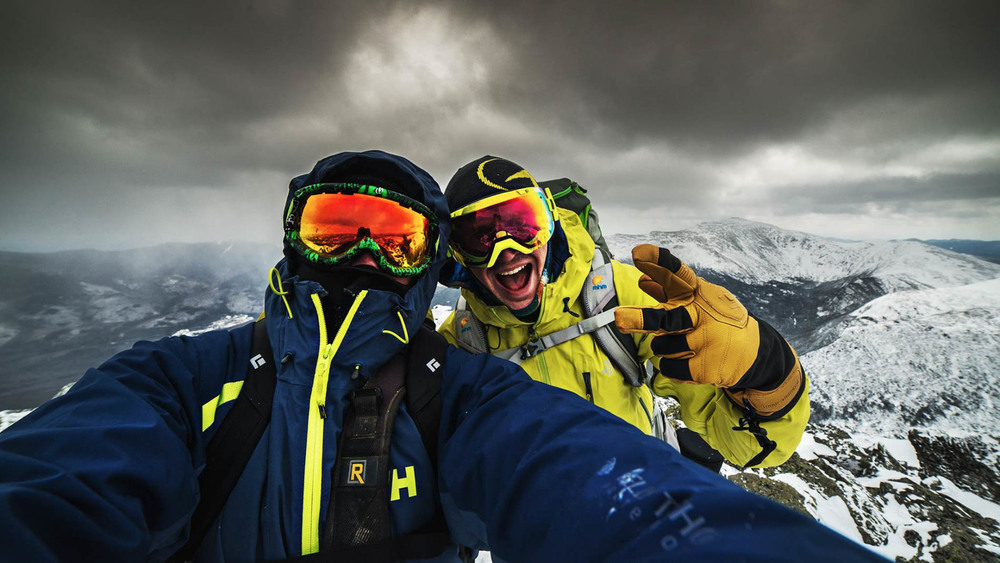 An awesome selfie on the top of Mt. Adams, brought to you by  David Savoie Photography
