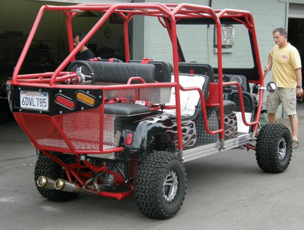 6 seat 100mph golf cart
