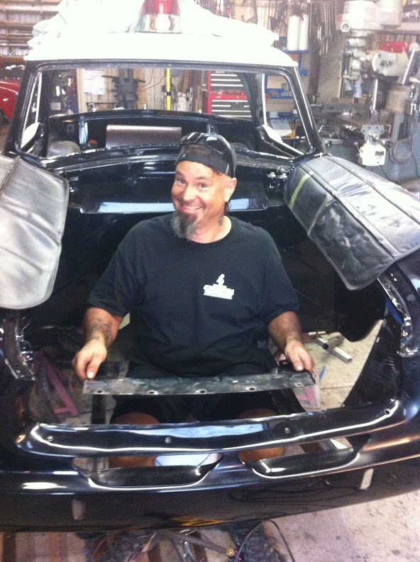 Gary removing sheet metal